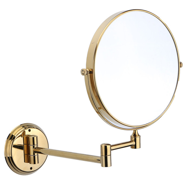 7x Magnifying Makeup Mirror 8 Dual Side Br Round Folding Mirrors Vanity Bathroom Shave Wall
