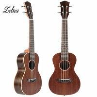 Zebra 23'' 4 Strings Fretboard Concert Ukulele Ukelele Electric Guitar Guitarra For Musical Stringed Instruments Lovers