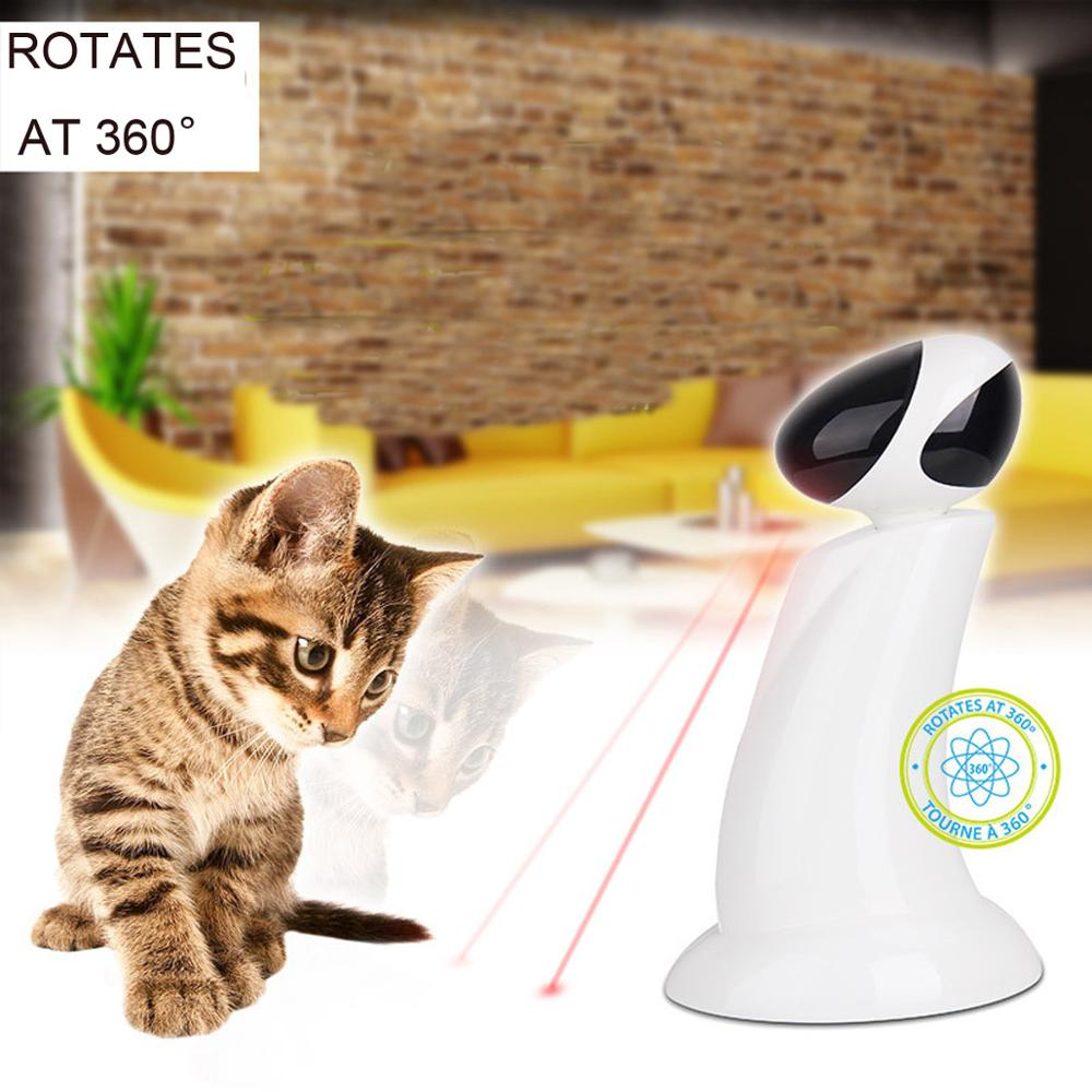Electric Cat Toys  Laser Beam 360 Degree Rotating Automatic Intelligent Robot