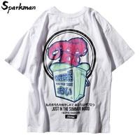 Harajuku Japanese T Shirt Streetwear Octopus Print Letter T Shirt Summer 2018 Short Sleeve Tops Tee Cotton Fashion Urban Tshirt