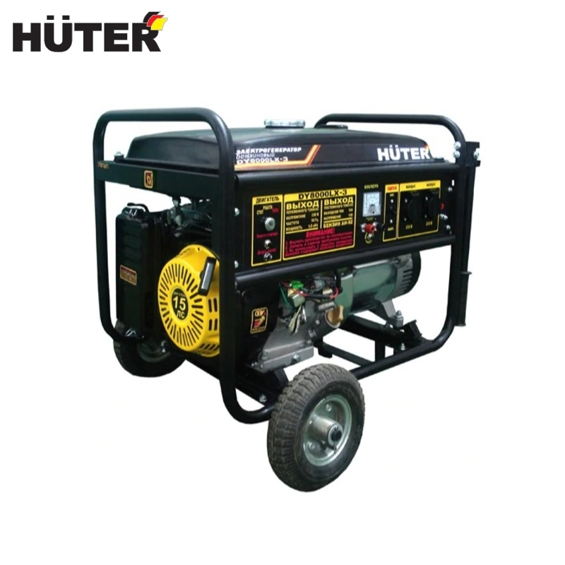 цена на Electric generator HUTER DY8000LX-3 Power home appliances Backup source during power outages Benzine power stations