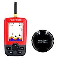 1PC Profundidade Fish Finder Portátil Com 100M Wireless Ecobatímetro Sonar Sensor Fish finder Localizador de Pesca de isca De Pesca Ecobatímetro Localizadores de peixe     -