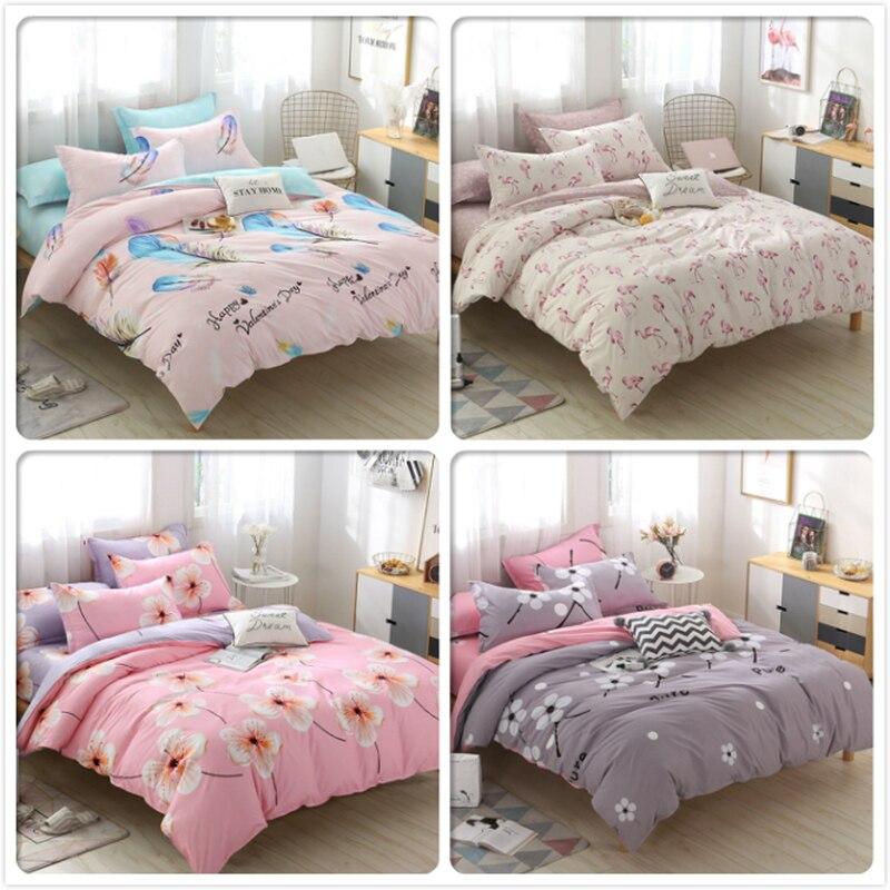 2019 New Duvet Cover Pillowcase 3pcs Bedding Set Adult Kids Soft Cotton Bed Linens Quilt Comforter Pillow Case 180x220 200x230cm