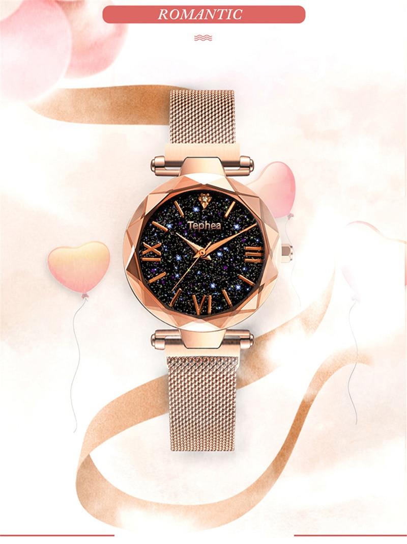 Luxury Women Watches Magnetic Starry Sky Female Clock Quartz Wristwatch Fashion Ladies Wrist Watch reloj mujer relogio feminino (2)