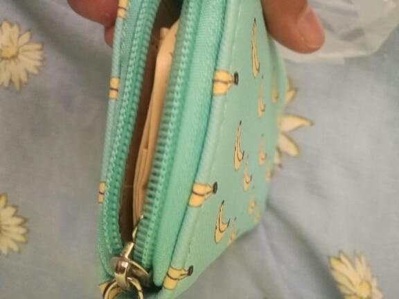 new watermelon panda cat bunny bear animal cartoon print pu zipper short card purse wallet girls money ID card bag coin purse photo review