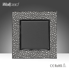 цена на 1 Gang 2 Way Sales Wallpad Luxury Pearl Leather Frame 16A 110-250V One Gang One Way Push Wall Switch Free Shipping