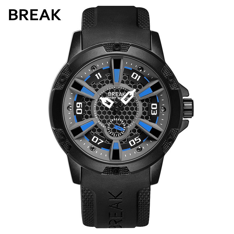 Waterproof reloj Cool Wrist watch Fashion Brand Casual Watches Men Sports Rubber Starp Man Quartz Army Military saat Casual weide new men quartz casual watch army military sports watch waterproof back light men watches alarm clock multiple time zone