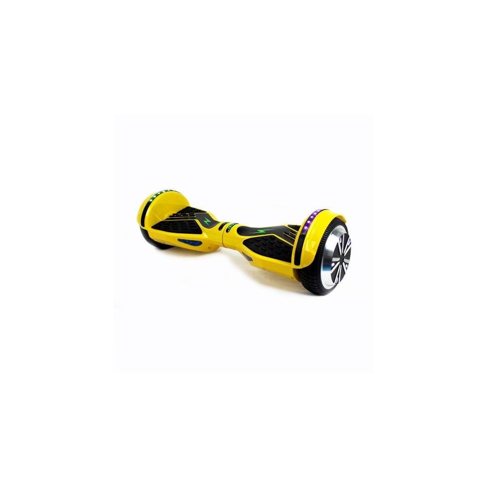 Skate Flash K6N, Hoverboard Electrico, 500 W, Bluetooth, Adulto, Rojo y Amarillo