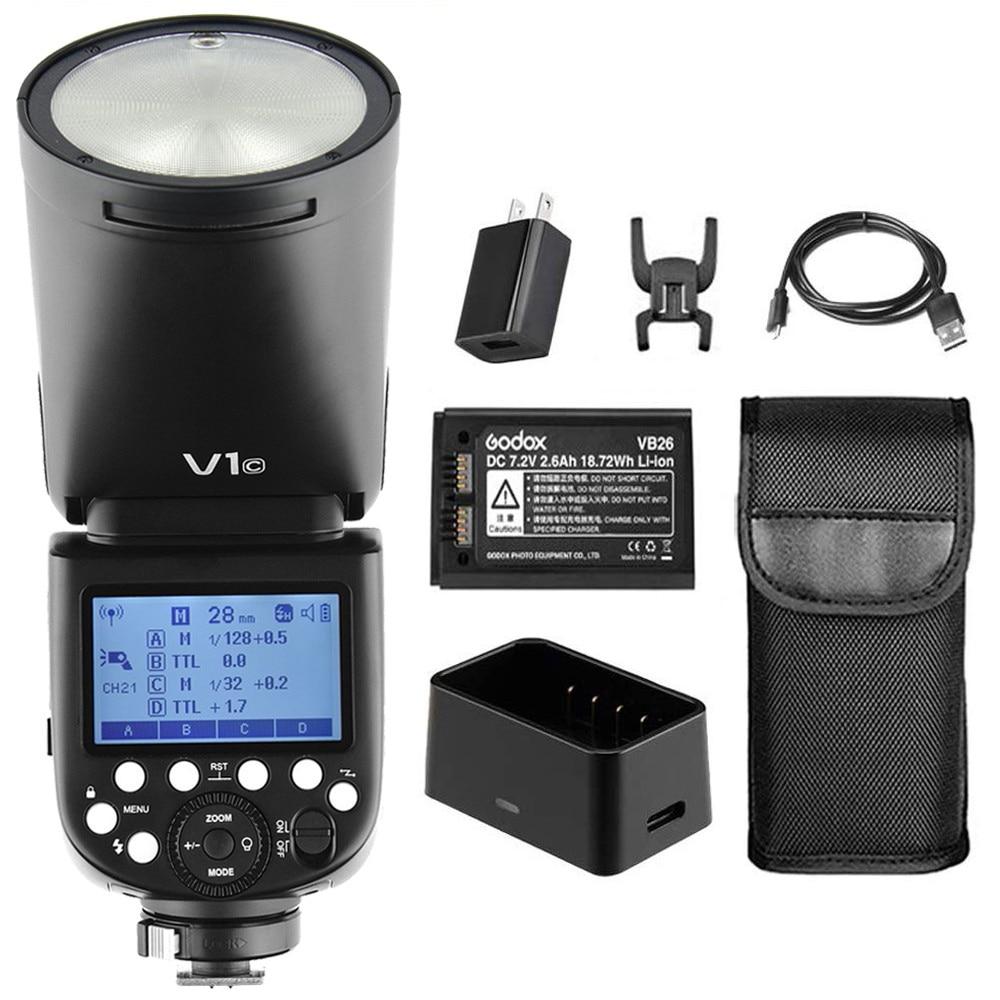 In Stock Godox V1 V1-C Li-on TTL On Camera Round Flash Speedlight for Canon  6D 5D MARK IV 70D 200D 6D MARK II T6 1500D 200D 70DIn Stock Godox V1 V1-C Li-on TTL On Camera Round Flash Speedlight for Canon  6D 5D MARK IV 70D 200D 6D MARK II T6 1500D 200D 70D