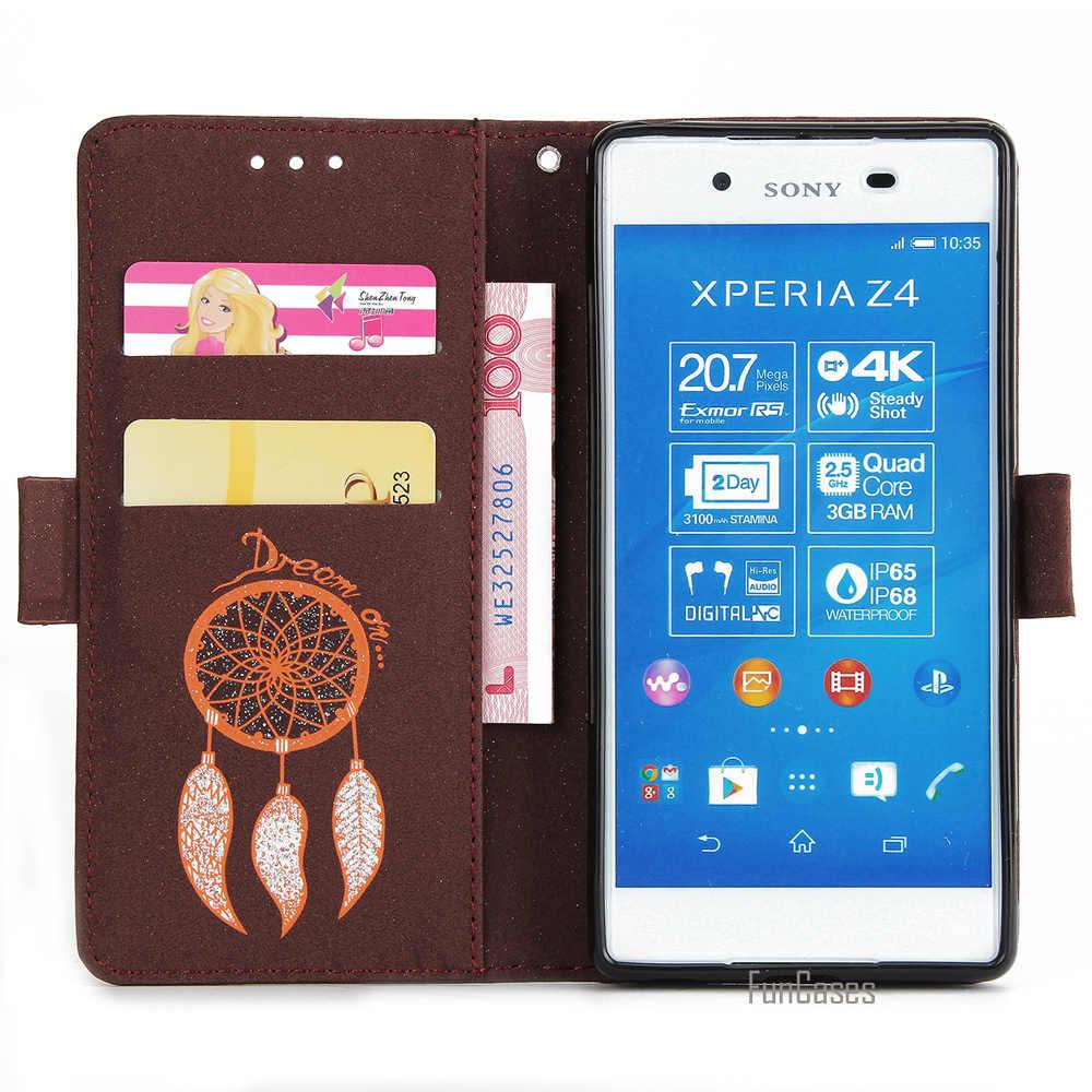 XZ フラッシュパウダー Pu レザーソニーの Xperia ソニーの Xperia Z5 XZ プレミアムマルチカラー風チャイム z4 Z3 財布スロット