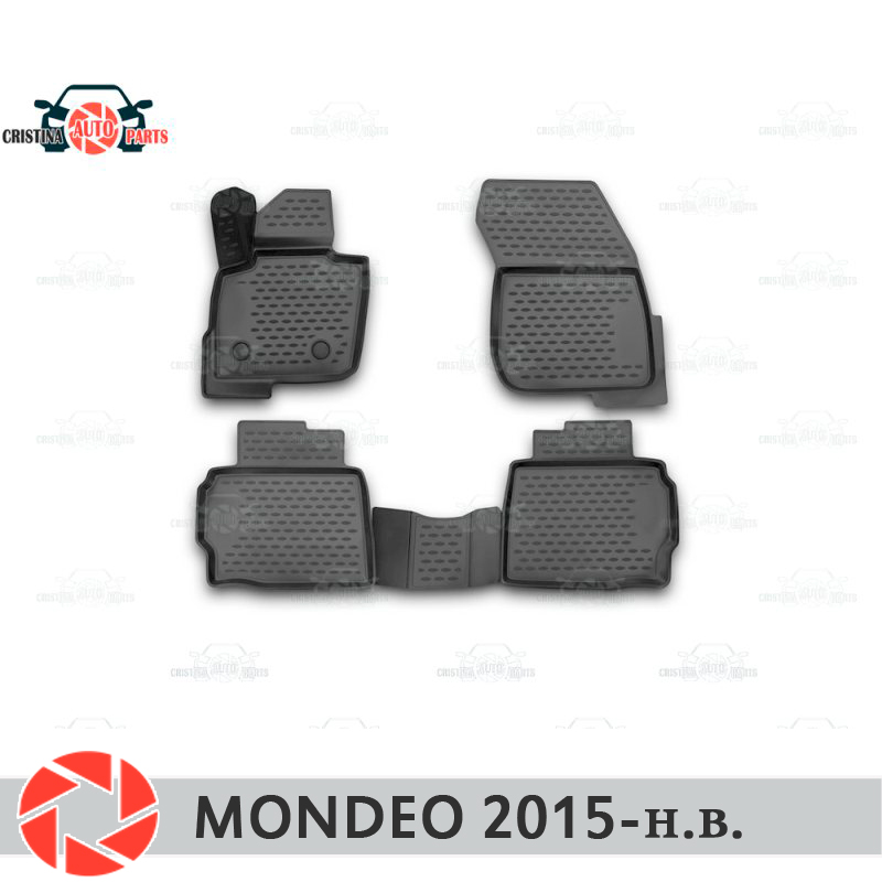 Floor mats for Ford Mondeo 2015- rugs non slip polyurethane dirt protection interior car styling accessories цена в Москве и Питере