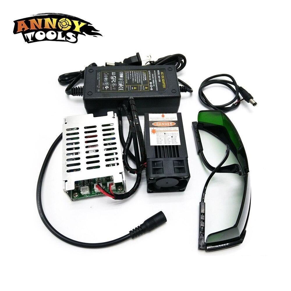 12 V TTL de Alta Potência 450nm 15000 mW Foco Ajustável Blue Laser Module DIY acessórios 15 W laser Laser gravadora cabeça