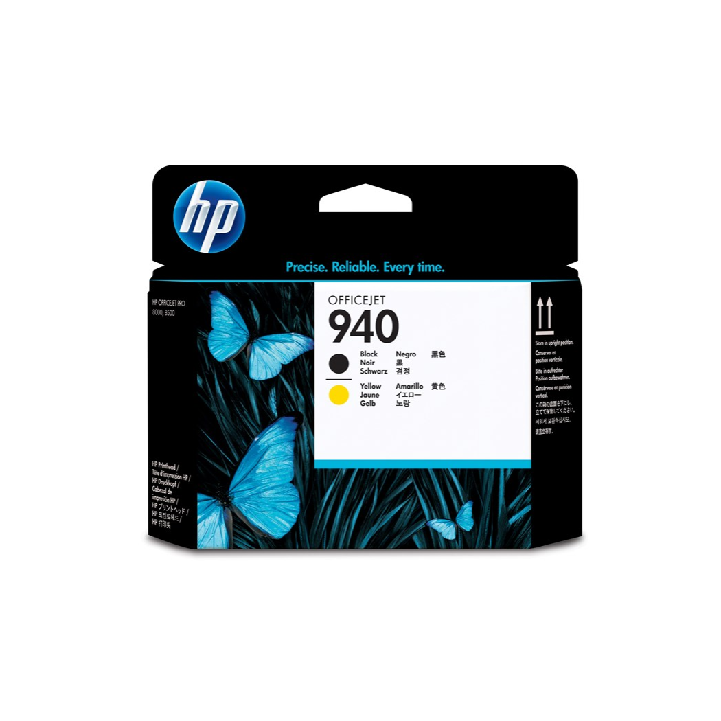 HP 940 Black and Yellow Original Printhead, HP Officejet Pro 8000, 8500, 8500A, 8500A Plus, Inkjet, Black,Yellow, 15 35 °