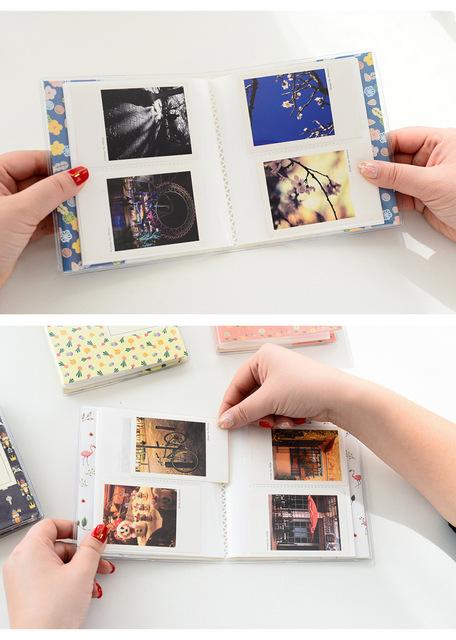 Optional 64 Pockets Photo Film Album / Wall Album/ Corner Stickers For FujiFilm Instax Mini 8, Mini 9 7s 50 90 Fuji Films Paper