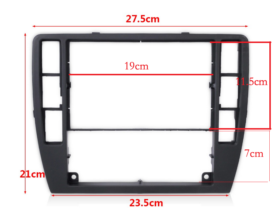for VW Passat B5 Middle Escutcheon Center Decorative Box Dashboard Console Panel CD Recorder Frame Radio