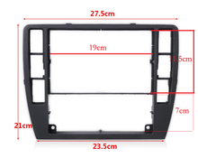 Para VW Passat B5 Medio Escudo Centro Decorativo Cuadro de Dashboard Panel de la consola CD Grabadora Marco Cara Radio Recortar 3B0 858 069
