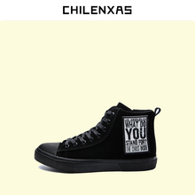 CHILENXAS Leather Men Casual Shoes Spring Autumn Lace-up Style Trend Breathable Comfortable Solid New Fashion Ankle Boots Light