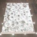 Sonst Schwarz Weiß Rosen Blumen Floral Natur Nordec 3d Druck Mikrofaser Anti Slip Zurück Waschbar Dekorative Kelim Bereich Teppich Teppich-in Lumpen aus Heim und Garten bei