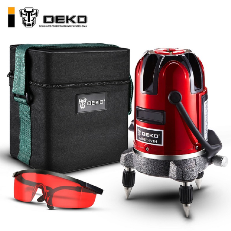 Laser level DEKO LL57  360 Rotary Self Leveling Tilt Function Outdoor Corss Line Lazer Level 5 Lines Livella Laser Tools rehabilitation physiotherapy low level laser therapy equipment healthcare supplies