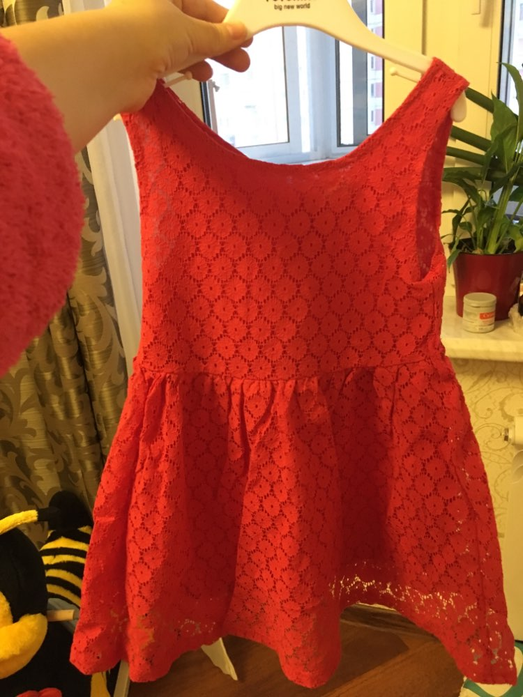 Fashion Summer Sleeveless Lace Girl's Dress photo review