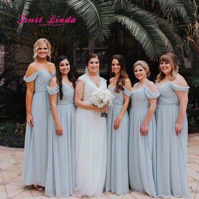 Bridesmaid Dresses 2018 Sweetheart Off The Shoulder Floor Length Plus Size  Bridesmaid Dress Vestidos De Matrimonio Fiesta 50be3ccba
