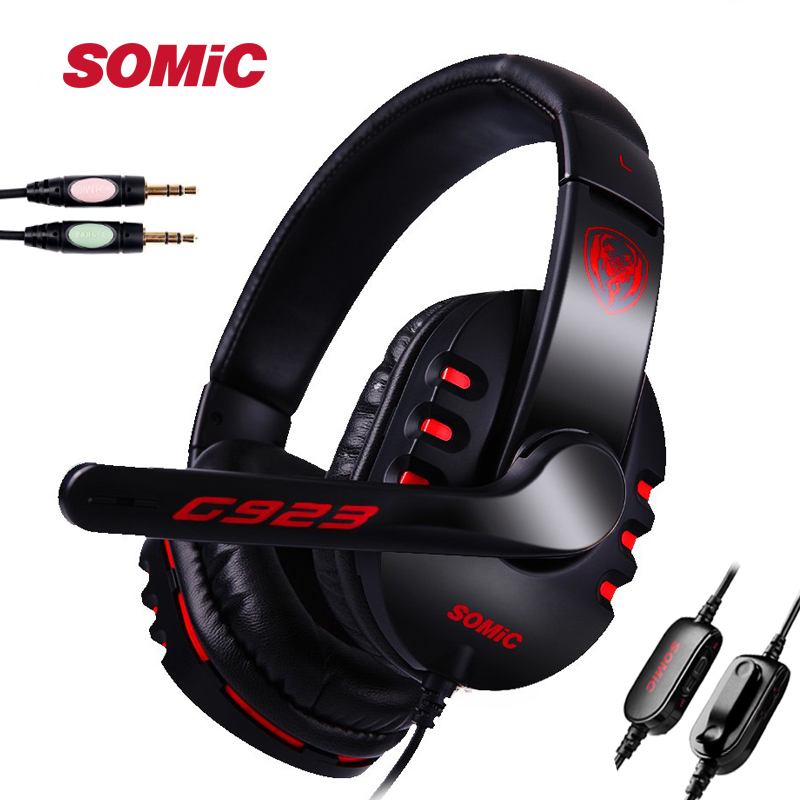 Liberal Somic G923 Double 3.5mm Wired Gaming Headphone Headsets With Mic Volume Control For Pc Internet Bar Cs Lol