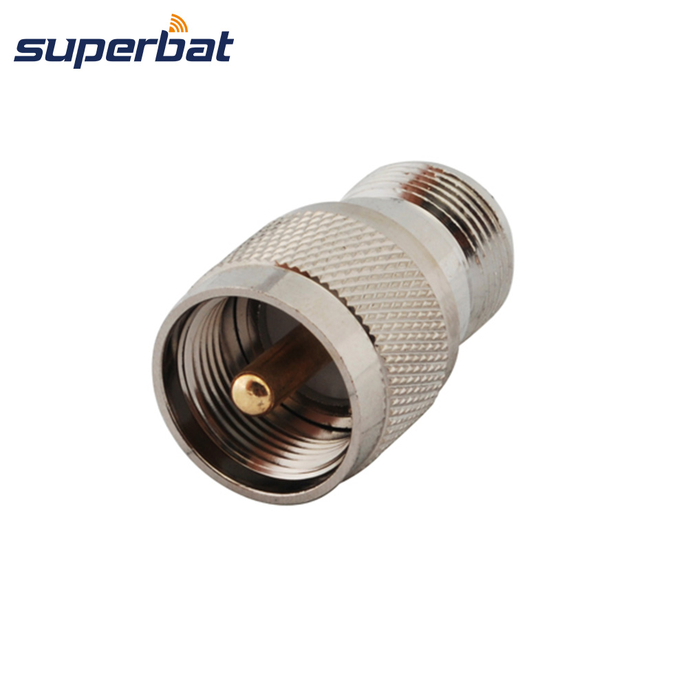 Superbat 2-Pack N Type Female Jack To UHF PL-259 Male Plug Connector Adapter