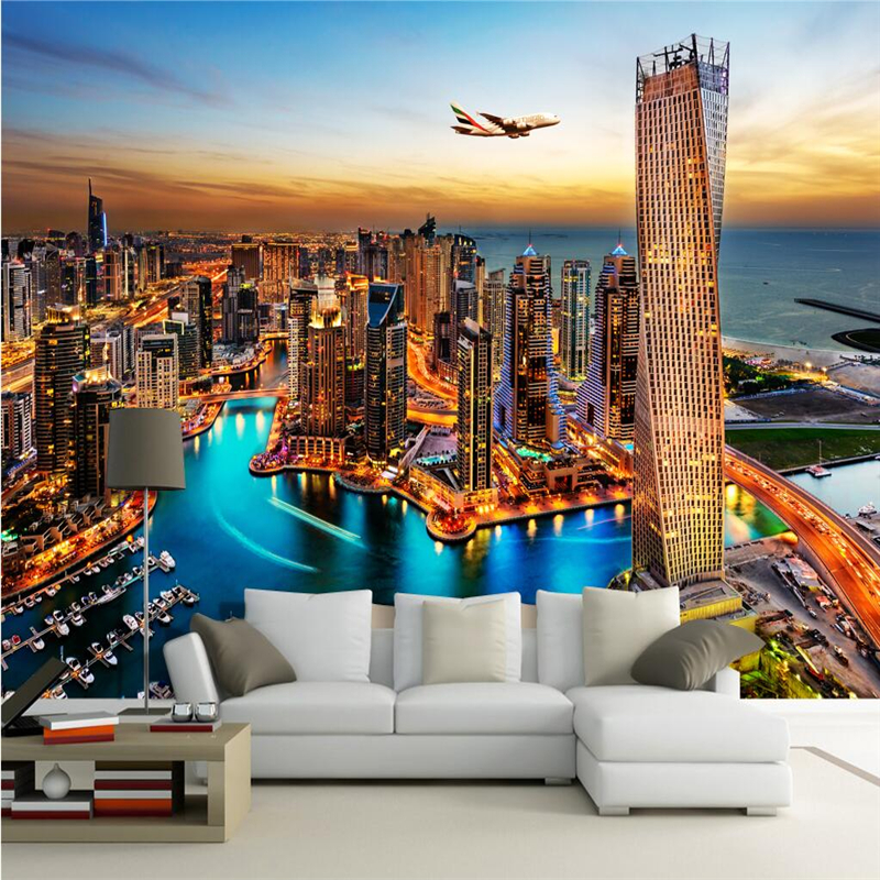 3D Nature Wallpapers Murals Modern City Landscape Photo Wallpapers for Living Room Home Decor Bedroom Walls Murals Painting custom photo size wallpapers 3d murals for living room tv home decor walls papers nature landscape painting non woven wallpapers