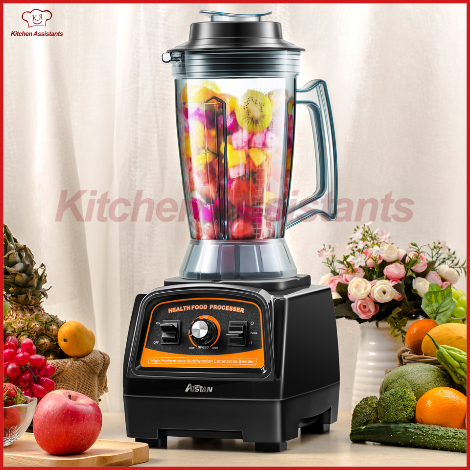 A7400 3HP BPA FREE 3.9L commercial professional smoothies powerful blender food mixer juicer with german motor 2800W glantop 2l smoothie blender fruit juice mixer juicer high performance pro commercial glthsg2029