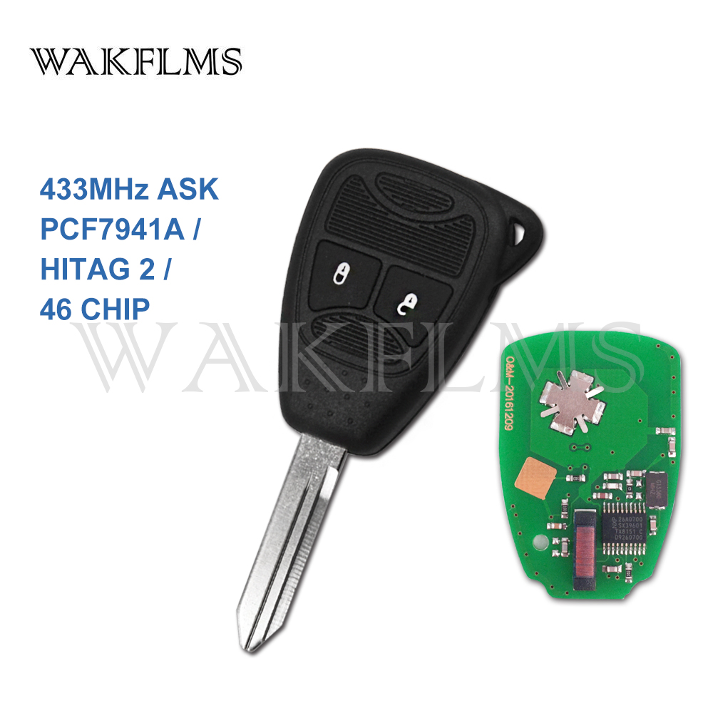 New Key Fob Remote Shell Case For a 2011 Chrysler 200 w// Trunk Button