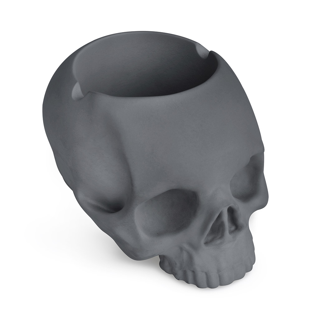 Balvi/ Ashtray/ Skully/ White/ colour/ In/ the/ shape/ of/ a/ skull/ Ceramic