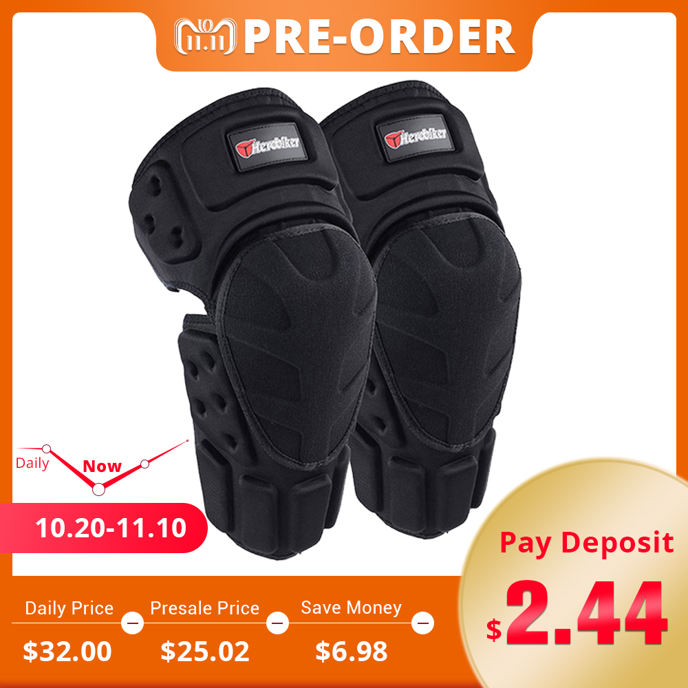 HEROBIKER Motorcycle Riding Knee Protector Bicycle Cycling Bike Racing Knee Pads Tactical Protective Gear Extreme Sports Support herobiker motorcycle knee pads motocross off road racing knee protector guard extreme sports protective gear accessories