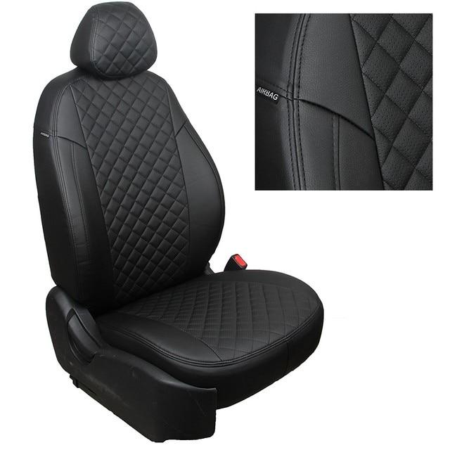 Для Kia Ceed 2007-2012 5D специальные автомобильные чехлы на сиденья (1 поколение) хэтчбек/вагон полный комплект автопилот из эко-кожи ROMB