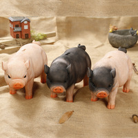 Cute Resin Pig Piggy Bank Home Decoration Money Coin Penny Cash Collectible Saving Box Kids Birthday Christmas Gift