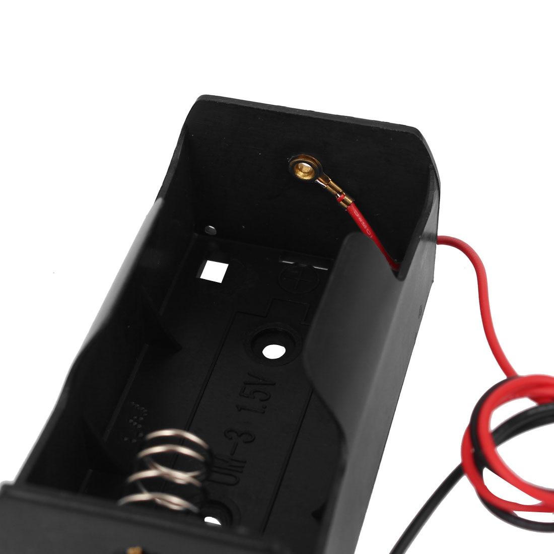 uxcell 4.5V Battery Holder Case Storage Box 3 x 1.5V D Batteries Wire Leads 10Pcs