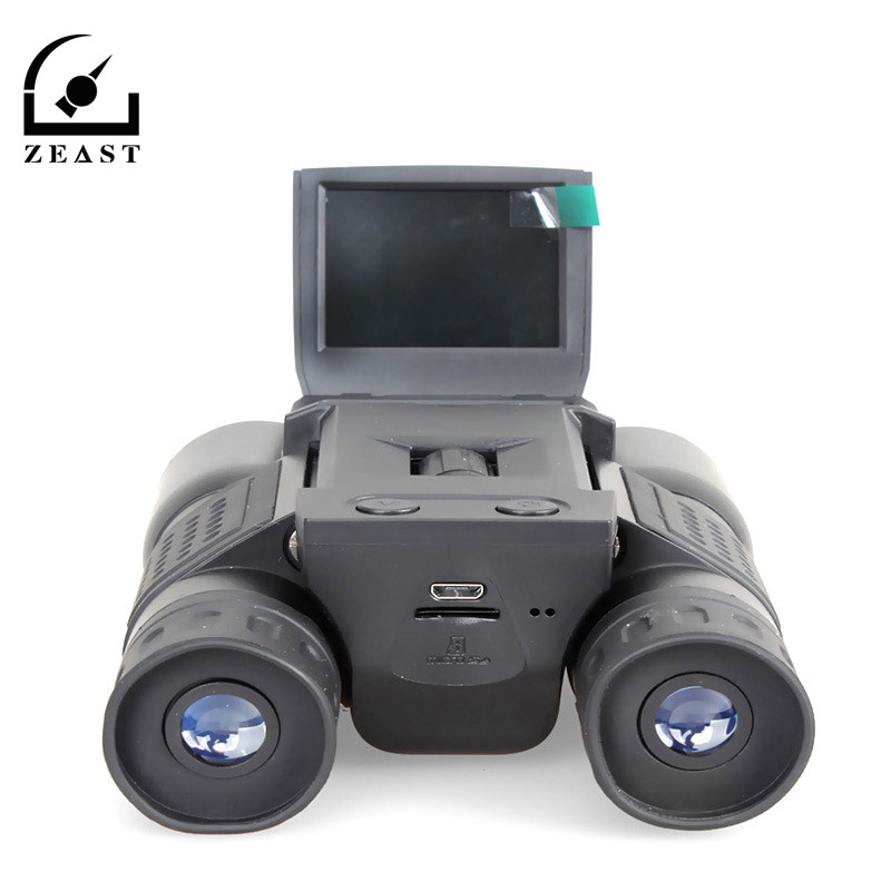 12x32 LCD Screen HD 1280X720 Digital Camera Binocular Telescope Zoom Binoculars Telescope DVR Photo Video Recording 2 lcd screen cmos hd 720p usb digital binocular telescope 96m 1000m zoom telescopio dvr binoculars photo camera video recording