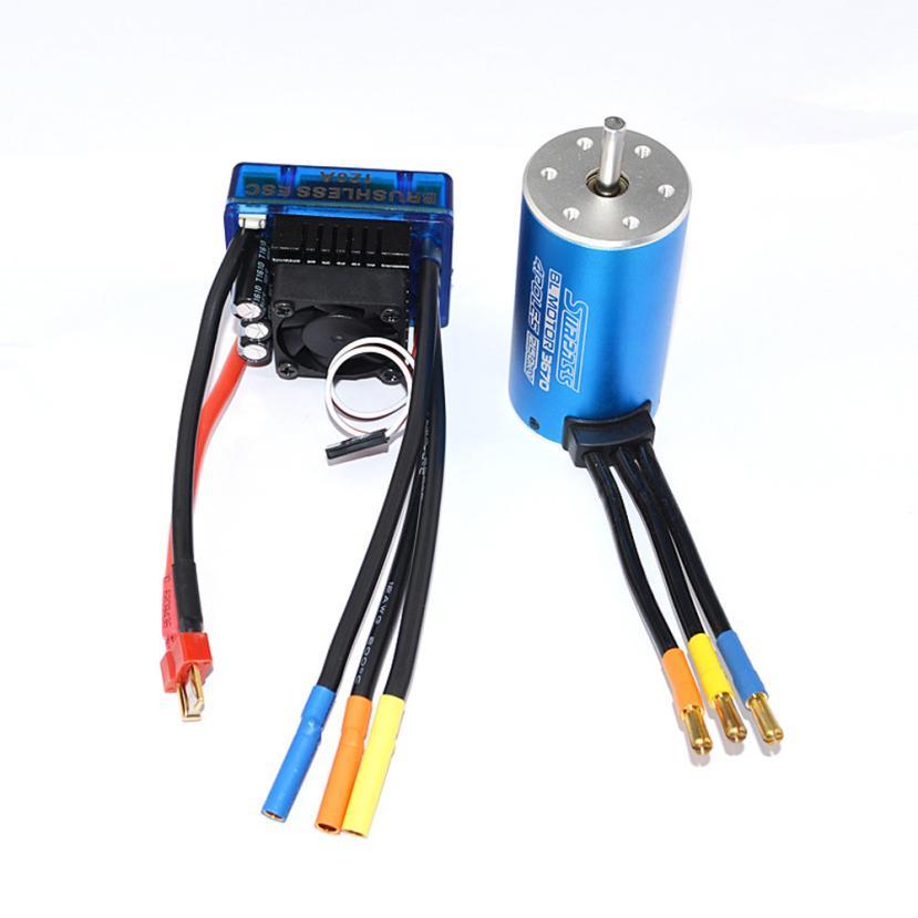 MOTOR CLASSIC BRUSHLESS SENSORLESS BL 3670 2150KV +Sensorless 120A Brushless ESC IUNEED TOY Store цена