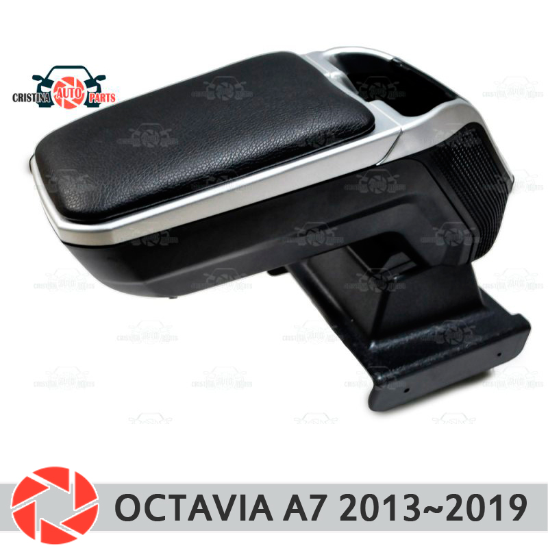 цена на Armrest for Skoda Octavia A7 2013~2018 car arm rest central console leather storage box ashtray accessories car styling m2