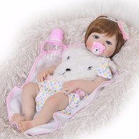 New Arrival Reborn Baby Dolls 23 Inch Fashion Full Silicone Vinyl Bebe Reborn Realistic Princess Baby Toy Kids Surprice