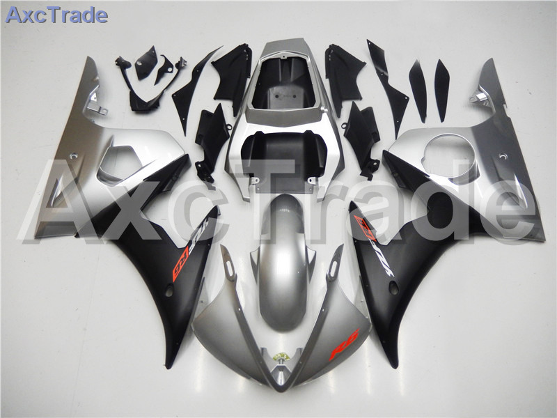 Motorcycle Fairings Kits For Yamaha YZF600 YZF 600 R6 YZF-R6 2003 2004 03 04 ABS Injection Fairing Bodywork Kit Silver Black