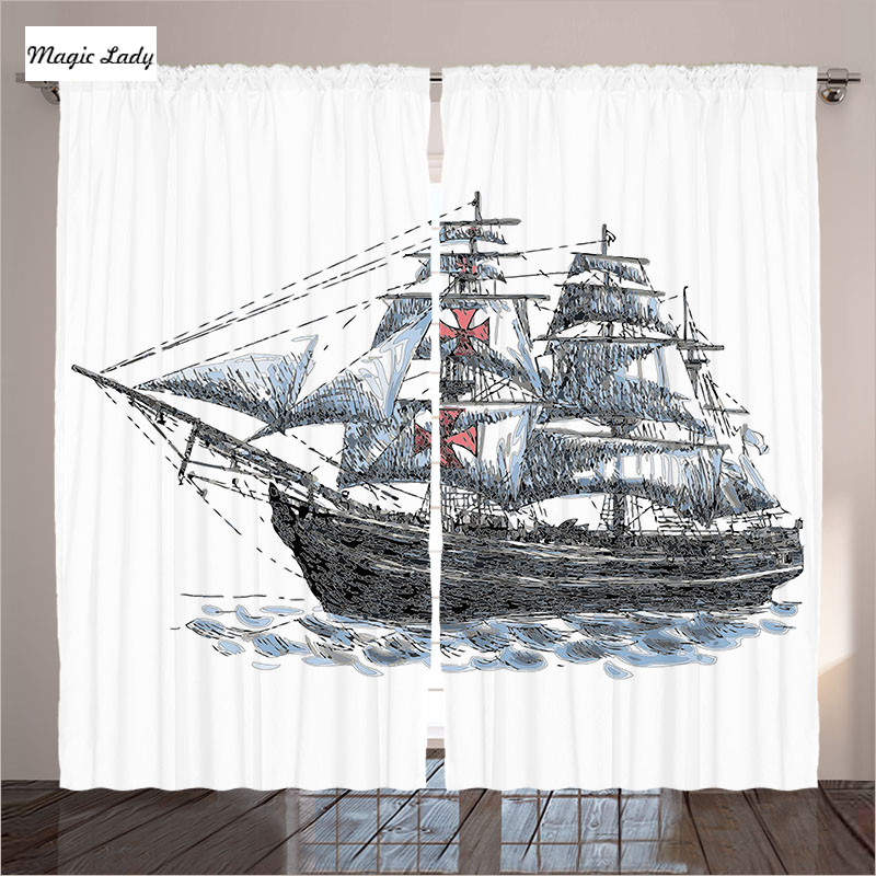 Navy style curtains living room bedroom old columbus ship for What time does old navy open today