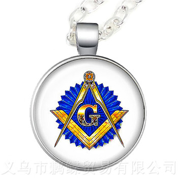 Free-mason Necklace Free and Accepted Masons Pendant For Women And Men Mocked The Birds Sweater chain For Justice And Freedom image