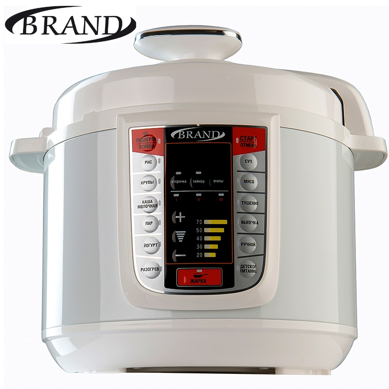 BRAND6051 Electric Pressure Cooker, 5L multicooker, Multivarka Cooking fast Rice Steamer Digital control aroma 4 in 1 rice cooker