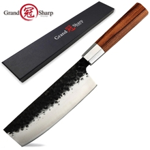 Grandsharp Nakiri Knife 6.7 inch Handmade Kitchen Knives Japanese knife High Carbon Steel Chef's Cooking Tools Sushi Slicing NEW