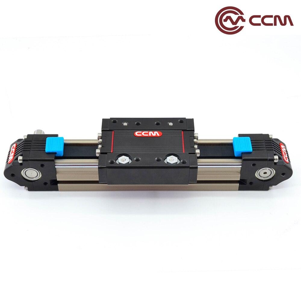Linear guide rails for CNC glue dispenser