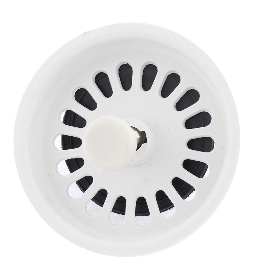 Uxcell white black plastic bathroom kitchen sink stopper drain strainer blackwhite in colanders strainers from home garden on aliexpress com alibaba