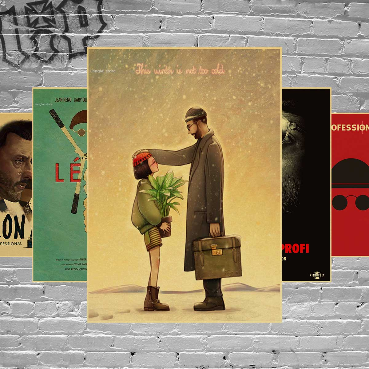 Leon the professional poster classic old movie vintage poster retro nostalgia kraft paper wall stickers Home decor