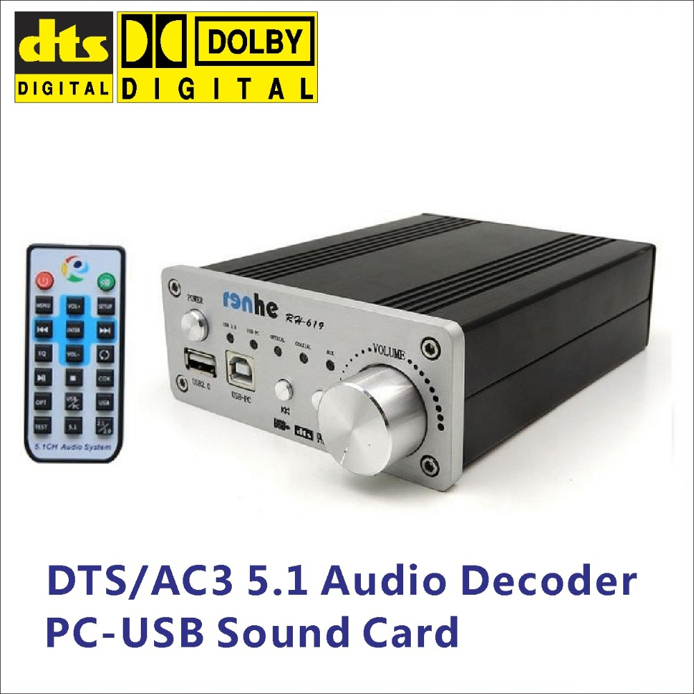 DTS/AC3 5.1 Digital Audio Decoder/Converter/DAC,USB2.0 Media Player,SPDIF USB-PC/Optical/Coxial input, PC-USB 5.1 Sound Card dolby surround sound audio processor usb decoding dac pre amp usb sound card
