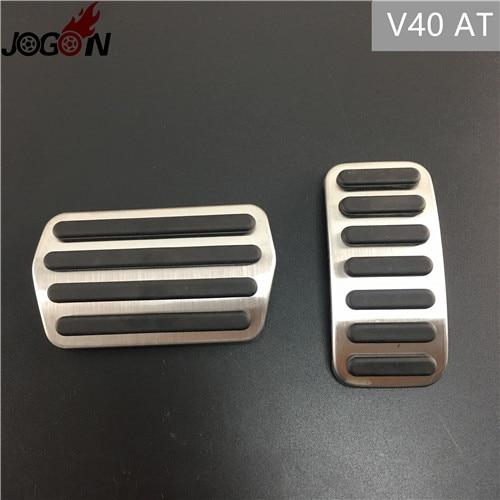 Для Volvo XC60 S60 V60 S80 XC90 S90 V90 XC40 V40 S40 C30 газовый топливный ускоритель сцепления педаль тормоза Накладка на MT - Название цвета: V40 AT