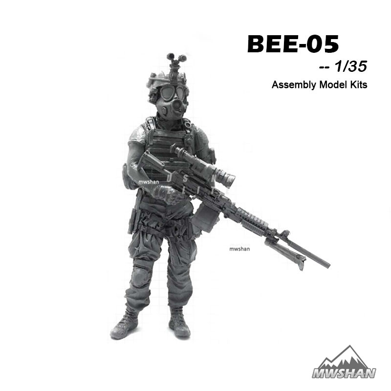 YUFAN 1/35 BEE-05 BEE Series Modern U.S Army Assembly Military Resin Miniatures Model Building Kits